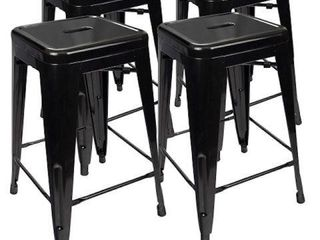 DURAMEX METAl BAR STOOl SET OF 4  24