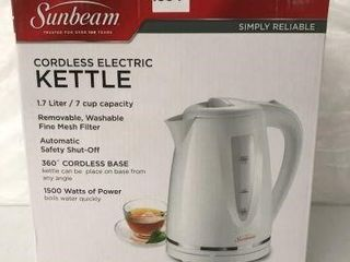 SUNBEAM CORDlESS ElECTRIC KETTlE 1 7 lITER