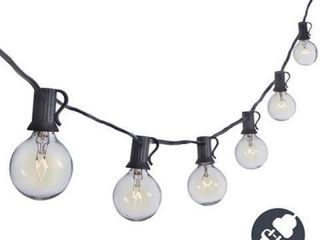 25FT G40 GlOBE STRING PATIO lIGHTS INDOOR OUTDOOR