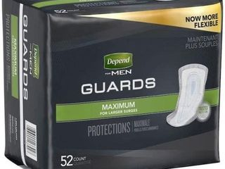 104 PCS DEPEND GUARDS 46963 MAX ABSORBENCY FOR