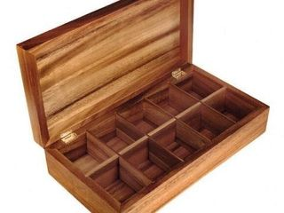 10 SlOTS WOODEN WATCH CASE 28142