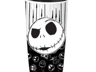 JACK SKEllINGTON CERAMIC TRAVEl MUG 16OZ CAPACITY
