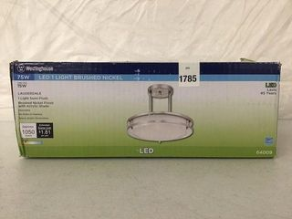 WESTINGHOUSE lED lIGHT BRUSHED WITH ACRYlIC SHADE