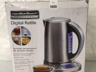 HAMIlTON BEACH DIGITAl KETTlE 1 7 lITERS