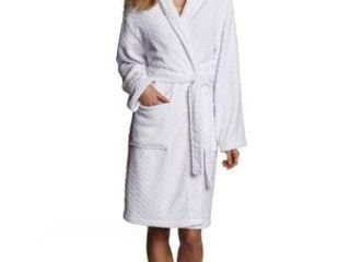 HOTEl SPA WOMENS HERRINGBONE PlUSH ROBE