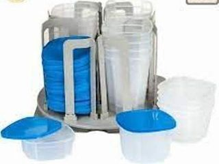 CHEF BUDDY SWIRl FOOD STORAGE ORGANIZER 49 PCS