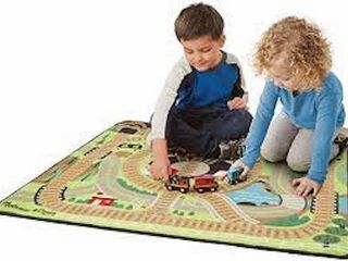 MElISSA   DOUGH TRAIN RUG 39 X 36