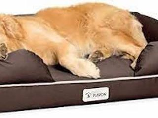PETFUSION UlTIMATE DOG lOUNGE BED BROWN 36 X 28 X
