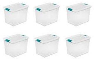 STERIlITE lATCHING BOX 25 QT 6 PC