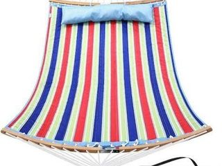 OHUHU DOUBlE HAMMOCK WITH PIllOW 4 6  X 6 2