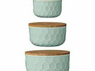 BlOOMINGVIllE A21700005 SET OF 2 ROUND MINT GREEN
