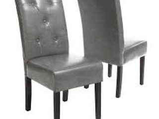 AlEXANDER BONDED lEATHER DINING CHAIR
