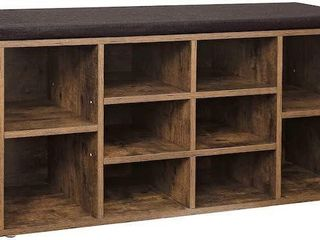 VASAGlE CUBBIE SHOE CABINET STORAGE BENCH WITH