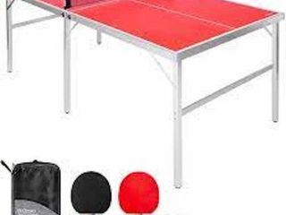 GOSPORTS PORTABlE TABlE TENNIS 6  X 3
