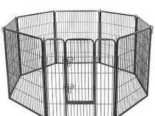 FEANDREA OCTAGON GREY PORTABlE PET PlAYPEN FOR