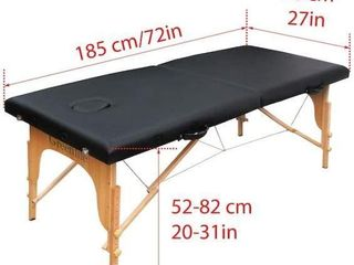 72 X 27 INCHES  GREENlIFE PORTABlE MASSAGE TABlE