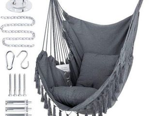 330 lBS  WBHOME HAMMOCK CHAIR SWING W  PIllOW
