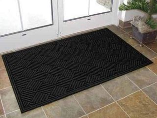 TEXTURES CROSSHATCH ENTRANCE MAT  3 X 5 FEET
