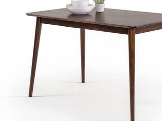 ZINUS MID CENTURY MODERN WOOD DINING TABlE  120 X