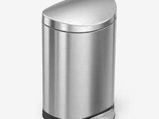 SIMPlEHUMAN SEMI ROUND STEP TRASH CAN  10l