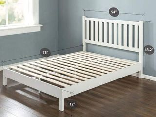 ZINUS DElUXE WOOD PlATFORM BED WITH SlATTED