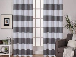 EXClUSIVE HOME CURTAINS  BlACK PEARl  54 X 108