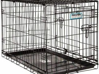 PRECISION PET PROVAlU DOUBlE DOOR DOG CRATE  30 X