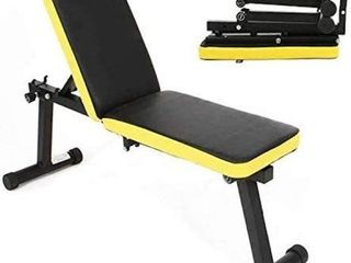 SOGES FOlDING DUMBBEll BENCH HEIGHT ADJUSTABlE