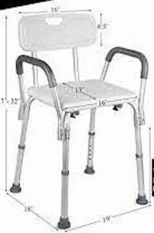 DR  MAYA SHOWER CHAIR WITH ARMS