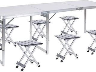 FRENZYBIRD FOlDING PICNIC TABlE WITH 6 STOOlS