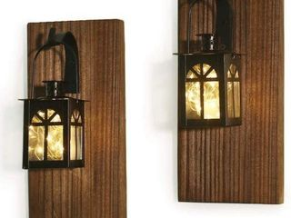DOCMON RUSTIC WAll DECOR WITH FAIRY lIGHTS