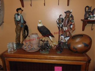 Group decor items  Indian Chief  Cowboy  Eagles