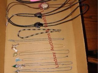 Flat w  bolos   necklaces  approx 12  see pics