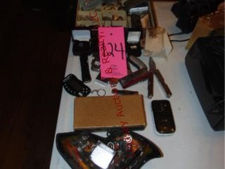 Group  jewelry box w  mens rings  flip phone