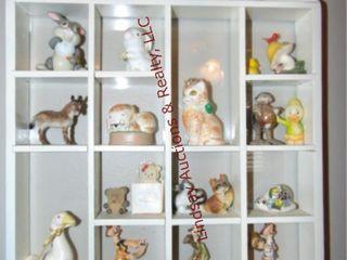 Group of various size wood wall shelves  9pcs