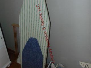2 ironing boards  clothes rack  iron   sprays