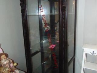 Display cabinet w  sliding door 32 5  x 21  x 75