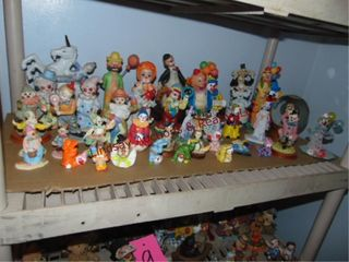 Approx 40  ceramic   porcelain clowns