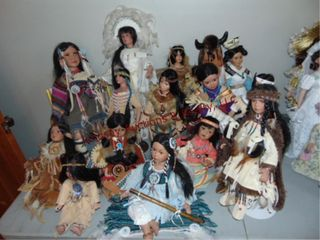 Approx 15 Native American Dolls SEE PICS
