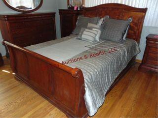 Queen sleigh bed frame w  mattress  box springs