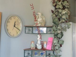 Group of decor items  greenery  angels  animals
