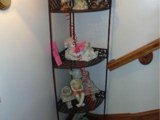 4 tier metal corner shelf  SHElF ONlY