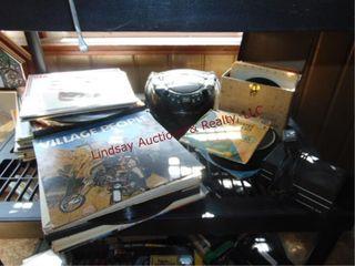 20  vinyl records  radio w  cd player   other