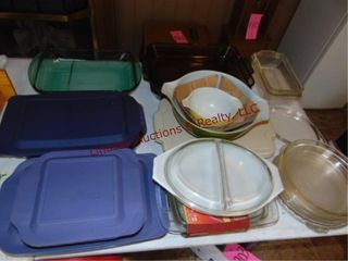 Approx 22pcs dishes  Pyrex  Anchor Hocking