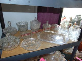 Approx 17pcs various cut glass  candy dishes
