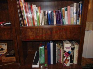 Books on 2 shelves  lori Wick  Marilyn Wallace