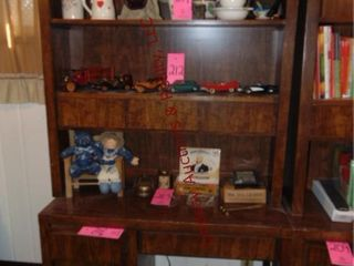 Wood shelf w  5 drawers NO CONTENTS