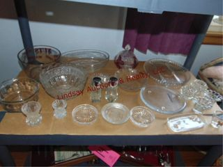 Approx 17pcs misc glassware SEE PICS