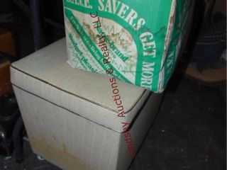 Vintage vacuum  box w  vac pcs   storage seat w