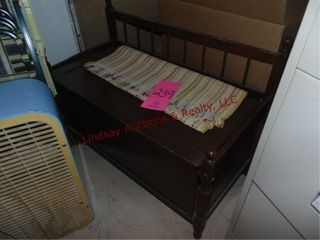Wood storage bench 32 x 16x 24